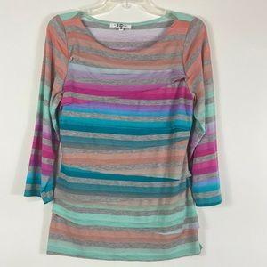 Paris IQ colorful shirt 3/4 sleeve